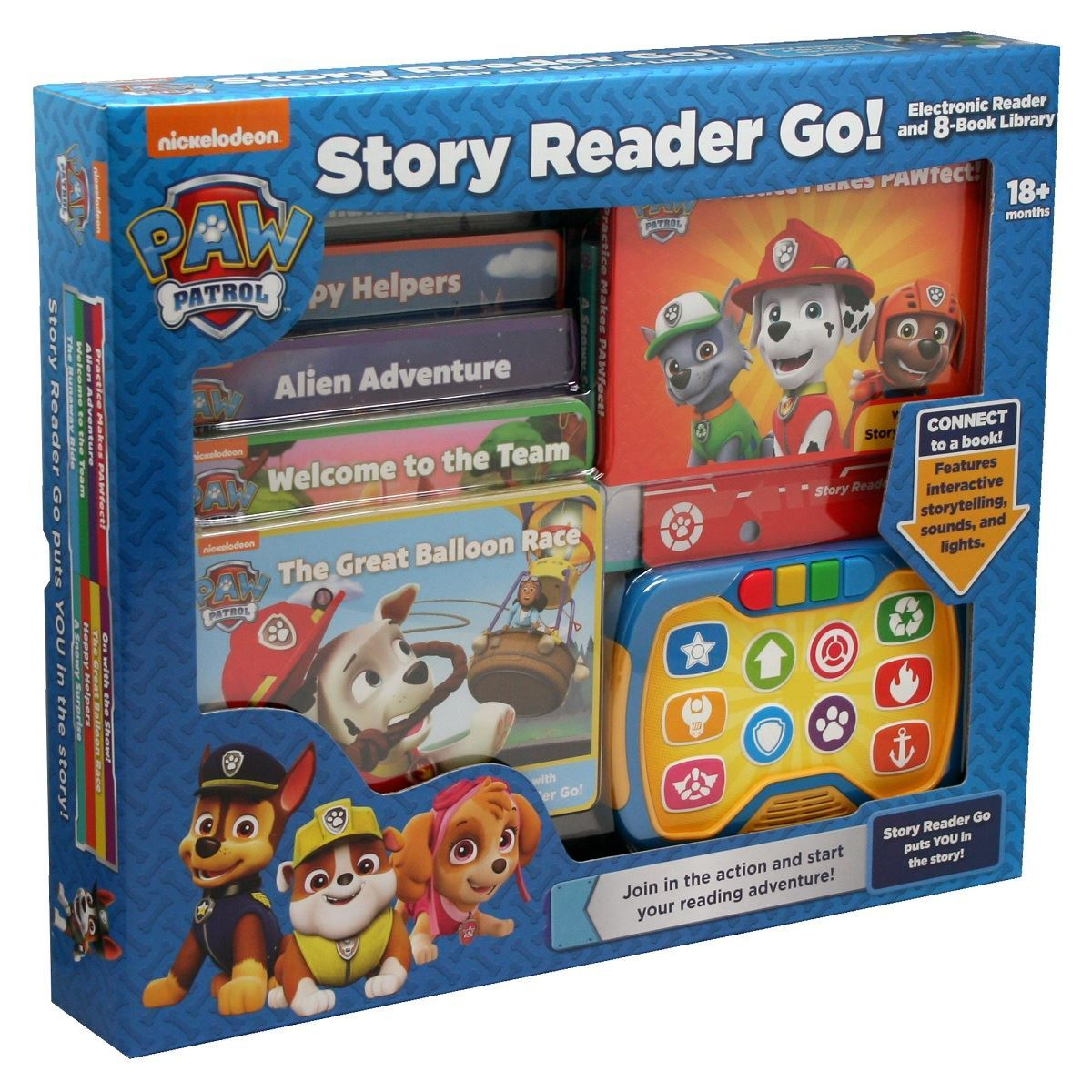Nickelodeon PAW Patrol Story Reader Go Electonic Reader and 8-Book Library Phoenix International Publications 9781503725645