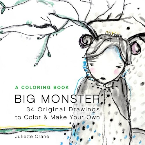 Big Monster Coloring Book 34 Original Drawings To Relax Color And De Stress