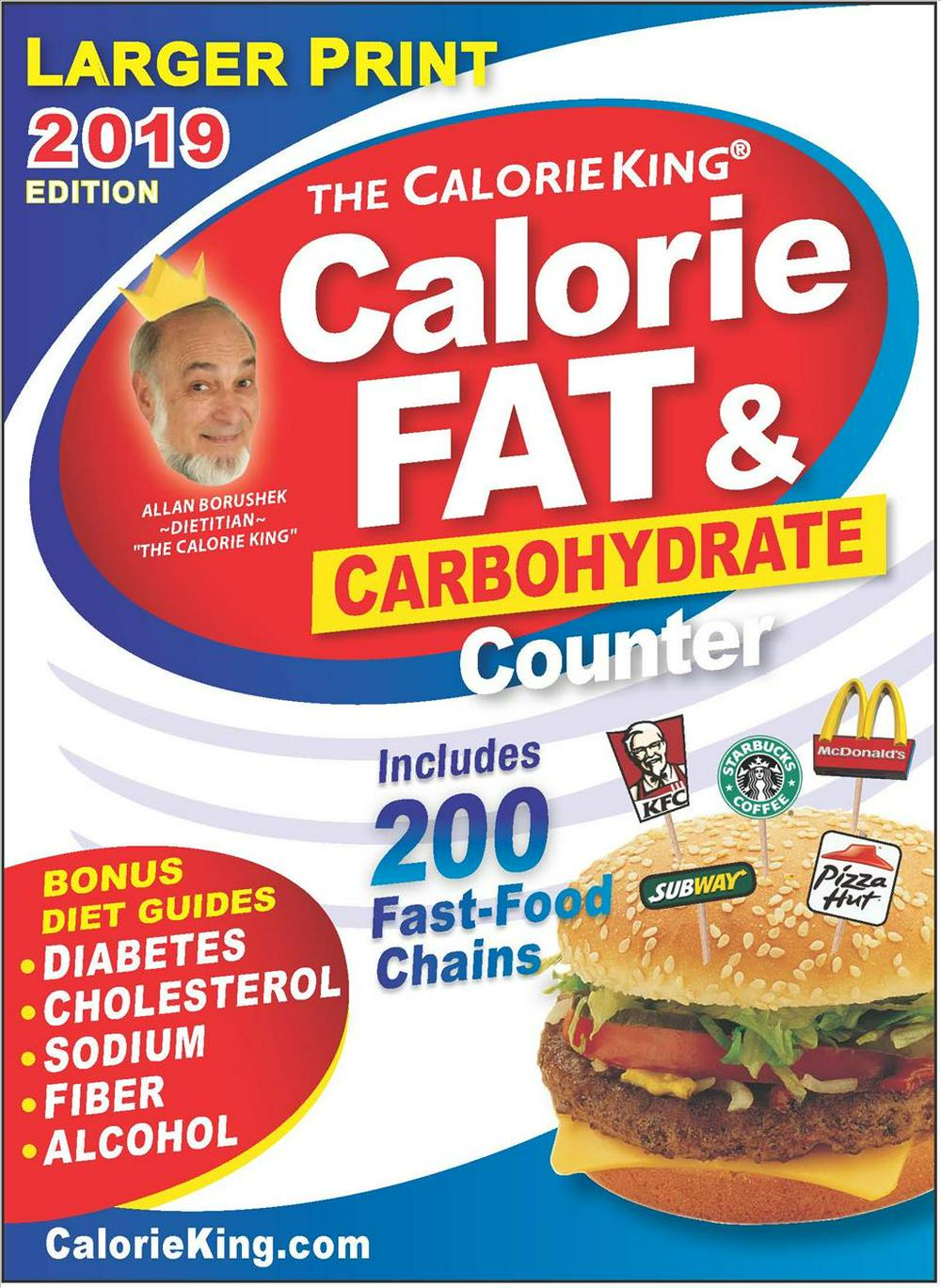 Calorieking 2019 Larger Print Calorie, Fat & Carbohydrate Counter