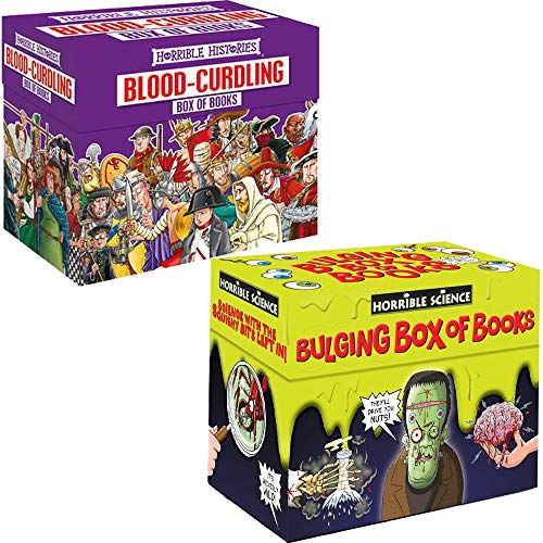 Horrible Series Collection 40 Books Set with box. (Horrible Histories x 20, Horrible Science x 20)