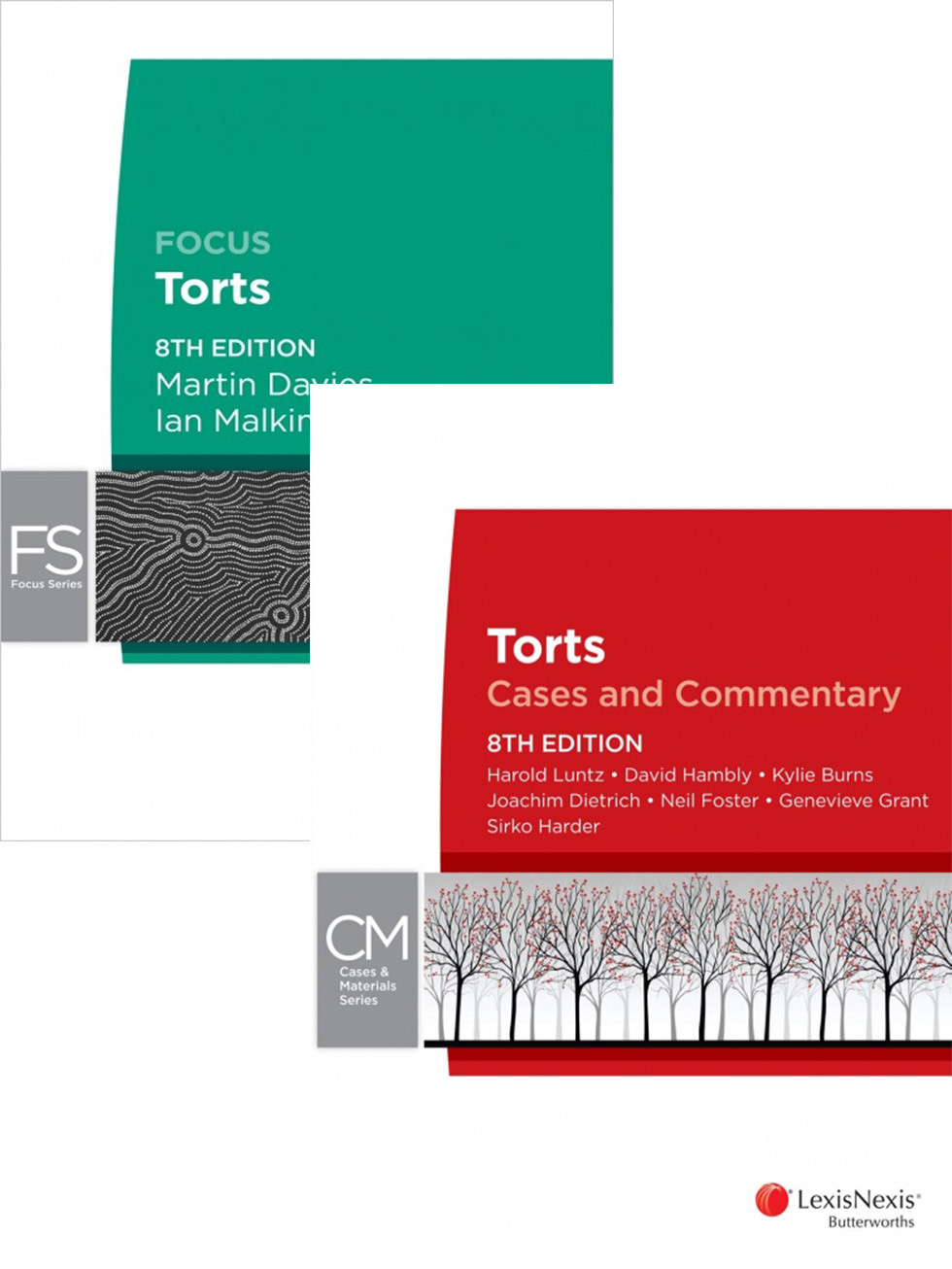 Torts: Cases and Commentary 8th edition + Focus Torts 8th edition  by Luntz & Davies, ISBN: 9780001181205