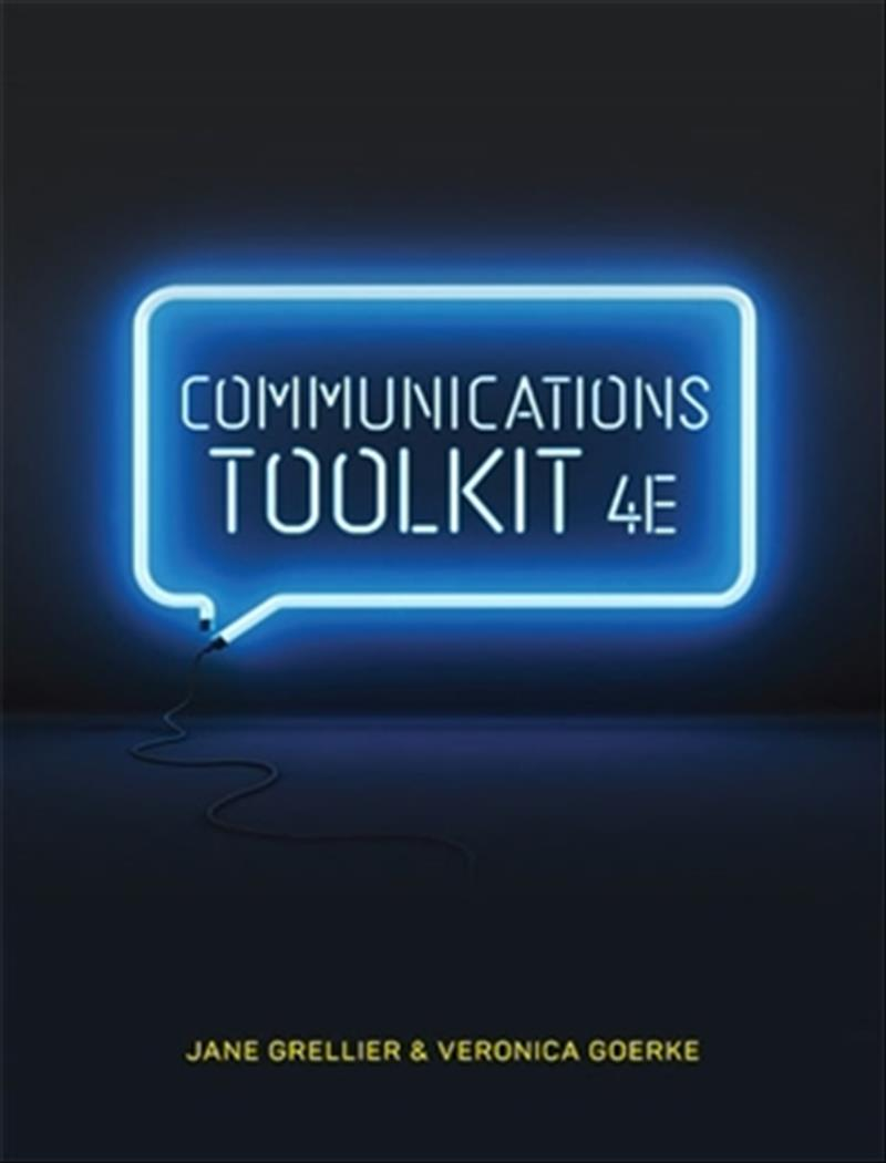 Communications Toolkit with Student Resource Access 12 Months by Jane Grellier,Veronica Goerke, ISBN: 9780170401623