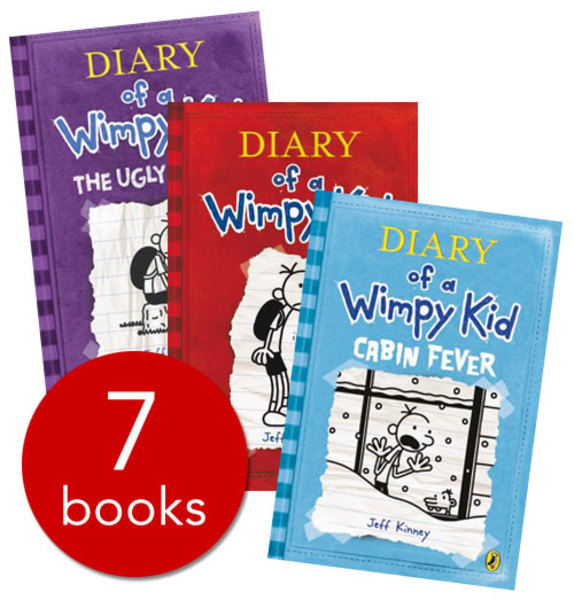 Booko comparing prices for diary of a wimpy kid collection 7 books diary of a wimpy kid collection 7 books set pack by jeff kinney rrp solutioingenieria Images