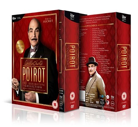 Agatha Christie's Poirot: Complete ITV TV Series - All 70 Episodes from Series 1, 2, 3, 4, 5 , 6, 7, 8, 9, 10, 11, 12 and 13 Definitive Collection (35 Discs) Box Set DVD + Extras + Featurettes + Documentaries by Unknown, ISBN: 5055605909475