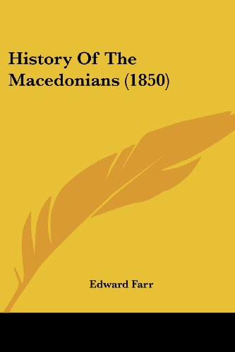 History Of The Macedonians (1850)