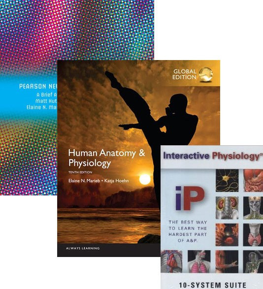 Human Anatomy & Physiology Global Edition + A Brief Atlas of the Human Body Pearson New International Edition + Interactive Physiology 10-System Suite CD-ROMValue Pack by Marieb & Hoehn, ISBN: 9781488687983