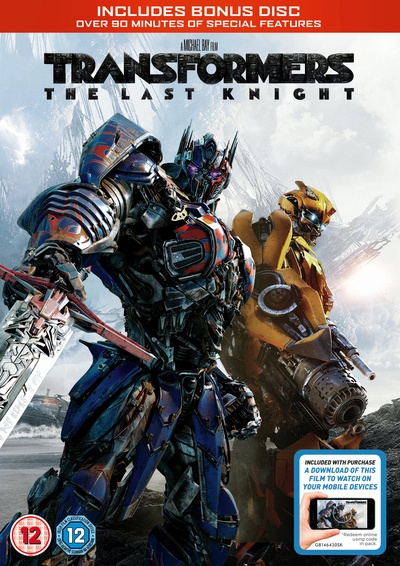 TRANSFORMERS: THE LAST KNIGHT (DVD + digital download) [2017] by Universal Pictures, ISBN: 5053083122874