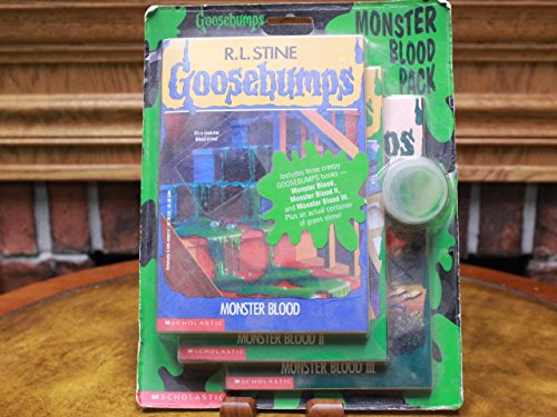 The Goosebumps Monster Blood Pack: The Curse of the Mummy's Tomb, Monster Blood, and Stay Out of the Basement (Includes a Container of Green Slime)