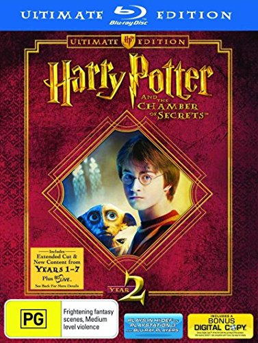 Harry Potter and the Chamber of Secrets (Ultimate Edition) [Blu-ray] by Emma Watson,Rupert Grint,Daniel Radcliffe,Maggie Smith,Chris Columbus, ISBN: 9325336063781