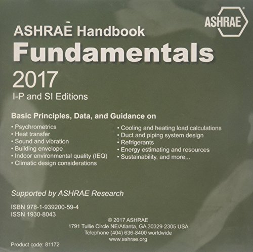 ASHRAE Handbook 2017: Fundamentals I-P and SI Editions