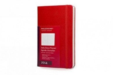 2014 Moleskine Red Large Daily Diary 12 Month Hard