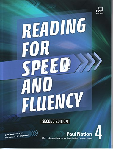 Reading for Speed and Fluency 4, Second Edition Student Book