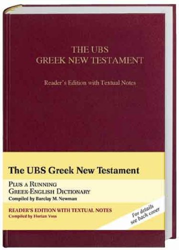 UBS Greek New Testament Reader's Edition with Textual Notes