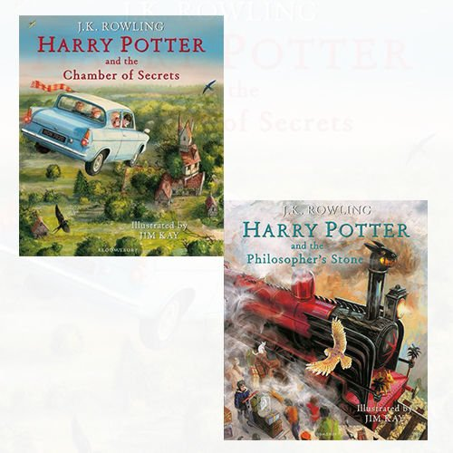 J.K. Rowling Harry Potter Illustrated Edtn Collection 2 Books Bundles (Harry Potter and the Philosopher's Stone: Illustrated Edition;Harry Potter and the Chamber of Secrets: Illustrated Edition)