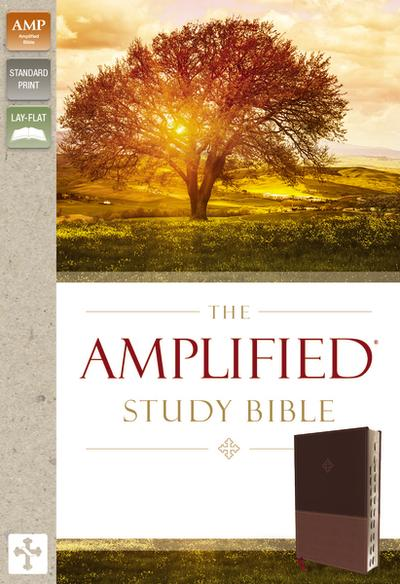Amplified Study Bible, Imitation Leather, Brown, Indexed by Zondervan, ISBN: 9780310444756