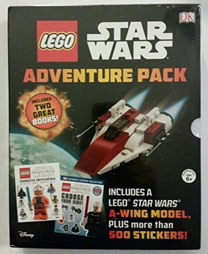 Lego Star Wars Adventure Pack Two Books Choose your Side, Character Encyclopedia Rebel & Imperial, A Wing- Model