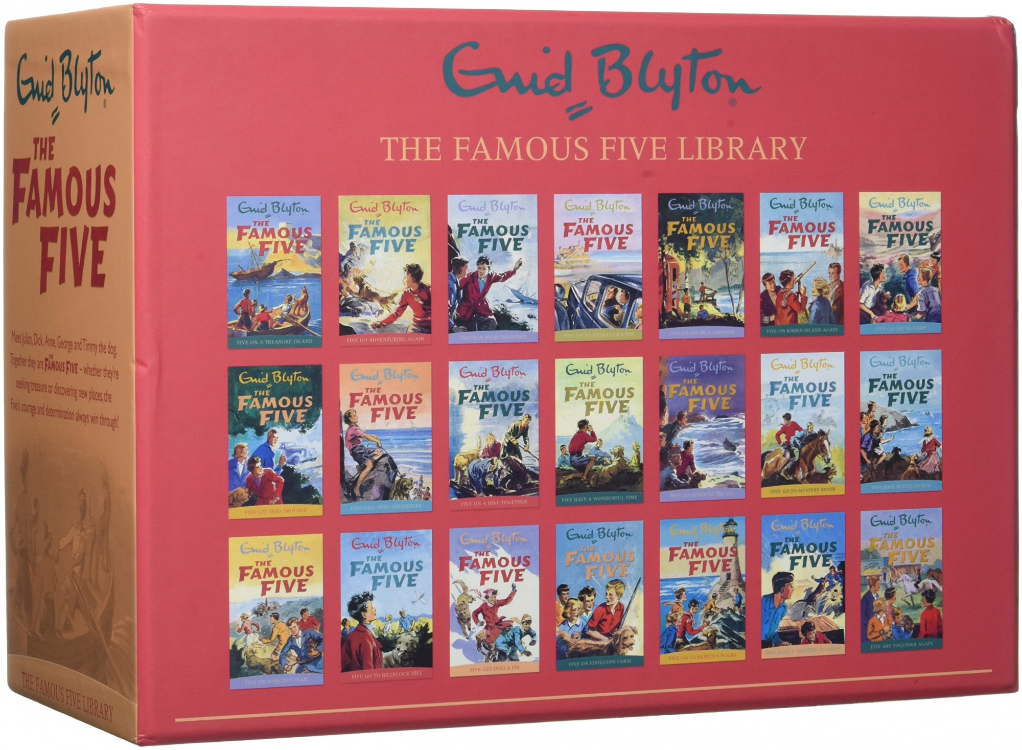 Enid Blyton Famous Five Series 21 Books Collection Box Gift Set Pack (1 To 21) by Enid Blyton, ISBN: 9781444936858