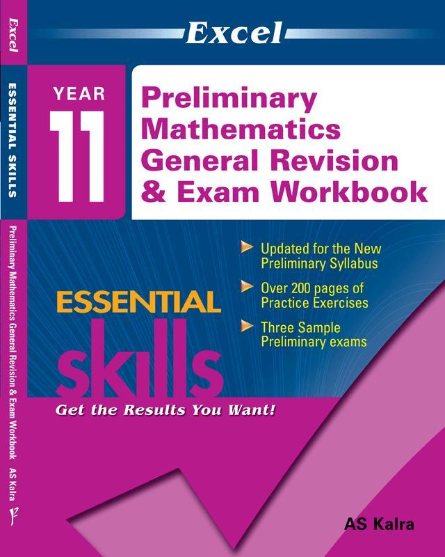 Excel Essential Skills - Preliminary Mathematics General Revision & Exam Workbook Year 11