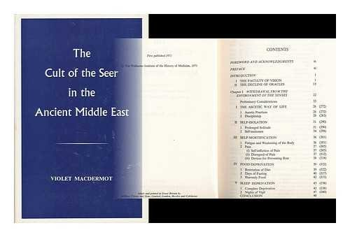 The Cult of the Seer in the Ancient Middle East: A Contribution to Current Research on Hallucinations Drawn from Coptic and Other Texts