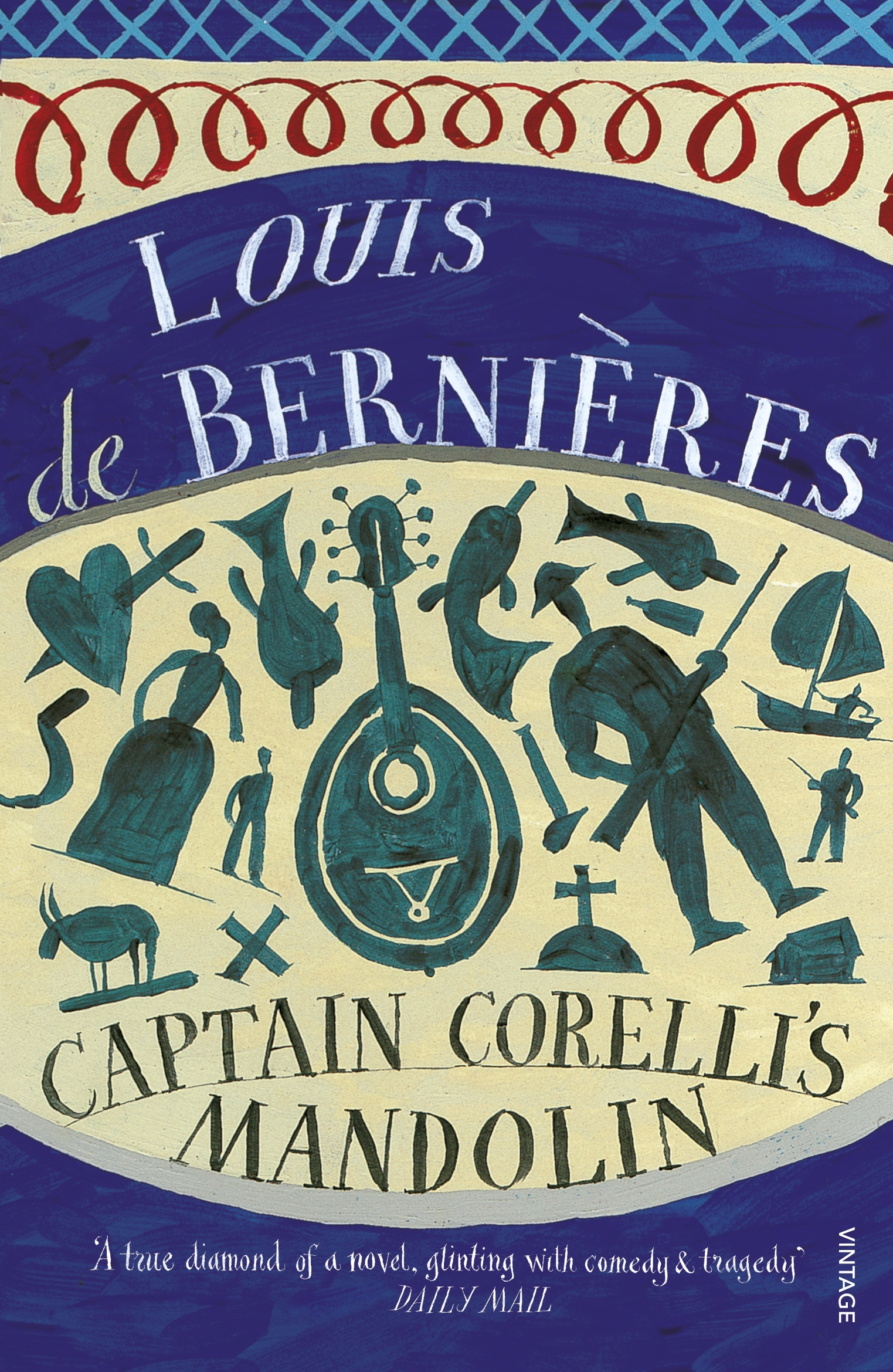 captain corelli s mandolin by louis de This extract from captain corelli's mandolin by louis de bernieres is a popular reading choice for civil wedding ceremonies: love is a temporary madness, it erupts like volcanoes and then subsides.