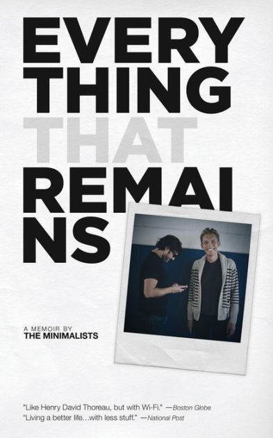 Everything That Remains by Joshua Fields Millburn, Ryan Nicodemus, ISBN: 9781938793189