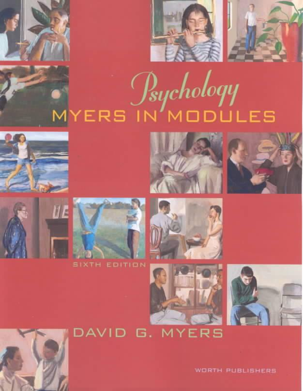 Psychology: Pupil's Book by David G. Myers, ISBN: 9781572599802