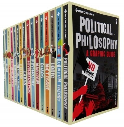 Introducing Graphic Guide 15 Books Collection Set, (Nietzsche, Capitalism, Philosophy, Political Philosophy, Economics, Chaos, Freud, Lagan, Logic, Jung, Marxism, Post Modernism, Feminism, Quantum Theory, Critical Theory)