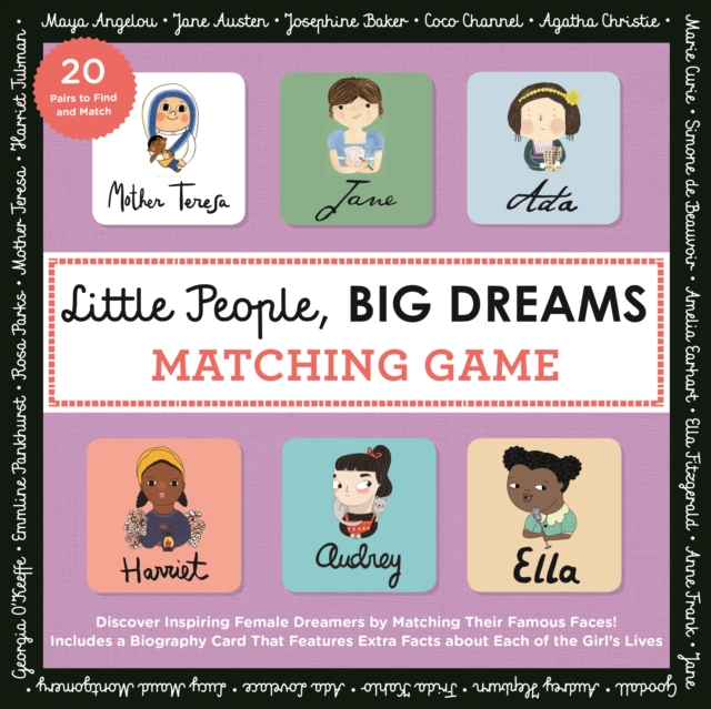 Little People Big Dreams Matching GamePut Your Brain to the Test with All the Girls o...