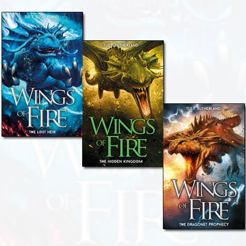 Wings of Fire Series 3 Books Bundle Collection (The Lost Heir , The Hidden Kingdom, The Dragonet Prophecy)