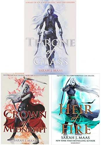 Sarah J Mass Throne Of Glass Series Collection 3 Books Set Pack by Sarah J Mass, ISBN: 9783200328297