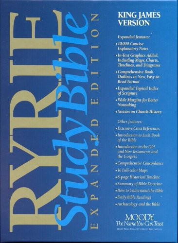 King James Version: Black Regular: Red Letter Editions (Ryrie study Bible expanded edition)