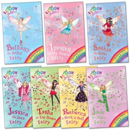 Dance Fairies Pack, 7 books, RRP £27.93 (Rainbow Magic: Bethany the Ballet Fairy, Imogen the Ice Dance Fairy, Jade the Disco Fairy, Jessica the Jazz Fairy, Rebecca the Rock n' Roll Fairy, Saskia the Salsa Fairy, Tasha the Tap Dance Fairy). (Rainbow Magic)