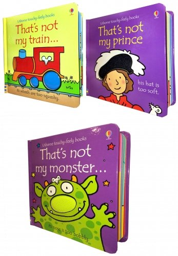 Thats Not My Boys Pack 3 Books Collection Set (Touchy-Feely Board Books) ( Thats not my Prince, Thats not my Train, Thats not my Monster)