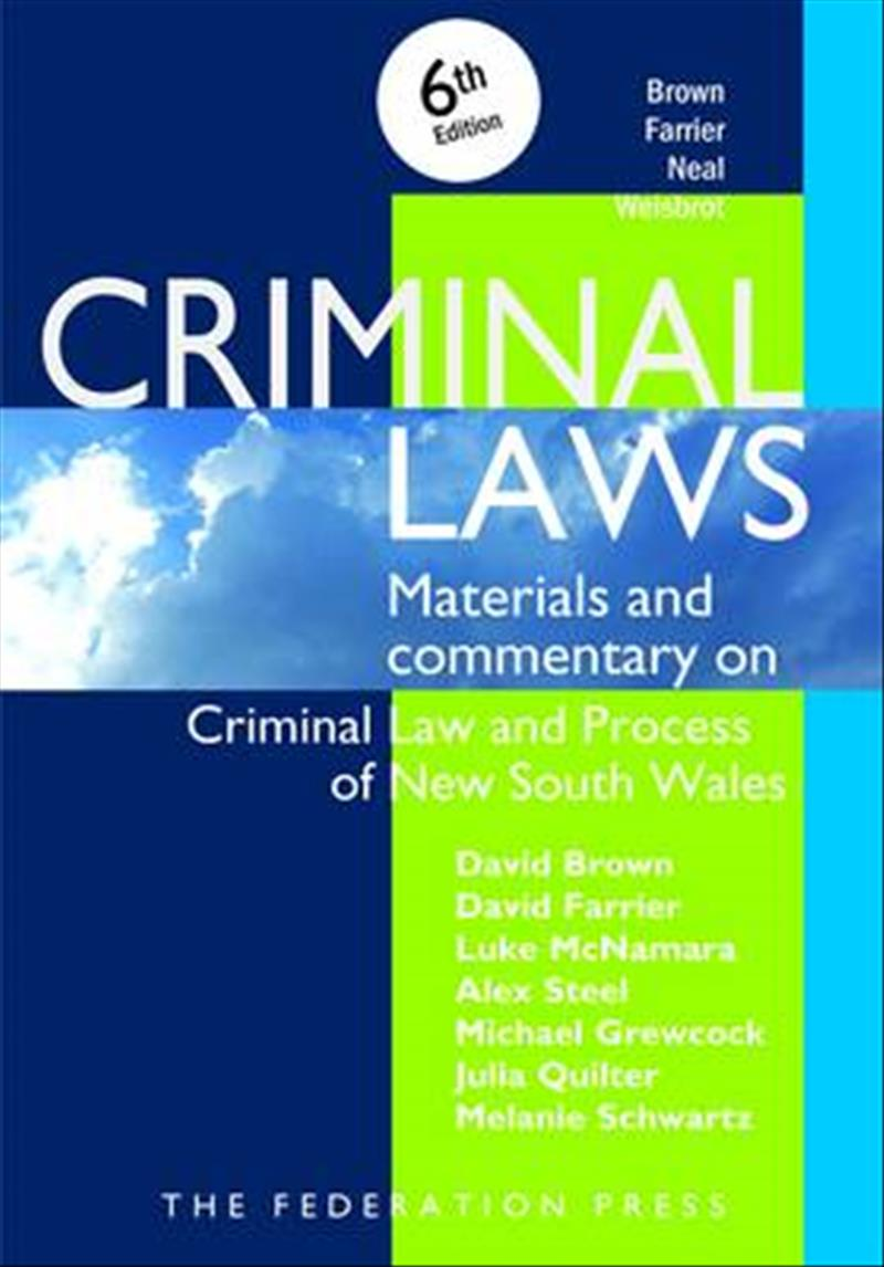 Criminal LawsMaterials and Commentary on Criminal Law and Proce...