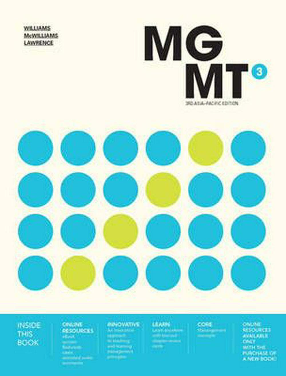 Mgmt3 with Student Resource Access 12 Months by Chuck Williams,Alan McWilliams,Rob Lawrence, ISBN: 9780170369459