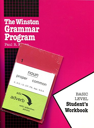 The Winston Grammar Program: Basic Level Student's Workbook-Package (New Cards)