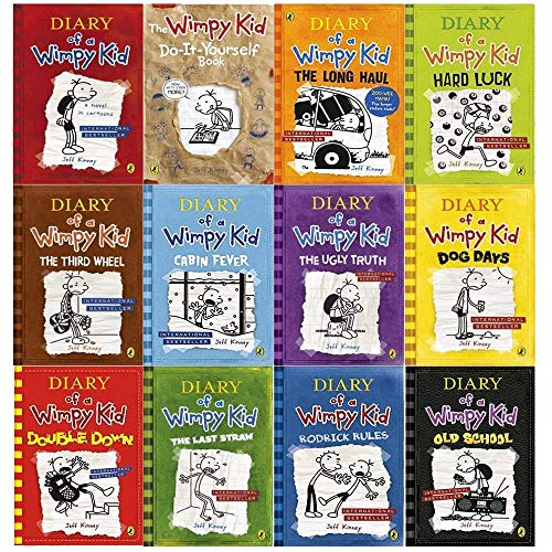Diary of a Wimpy Kid Collection 13 Books Set (Double Down, Old School, Hard Luck,Third Wheel, Cabin fever, The Ugly Truth, Dog Days, Do-It-Yourself Book, Diary of A Wimpy Kid, Rodrick Rules, The Last Straw, The Long Haul, Movie Diary)