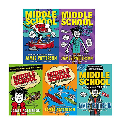 James patterson middle school series 5 books collection set
