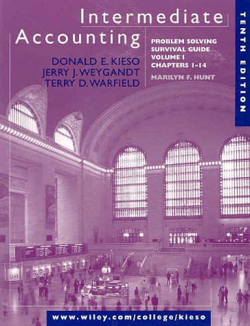 booko comparing prices for intermediate accounting volume 1 rh booko com au intermediate accounting problem solving survival guide (volume 2) Intermediate Accounting Solutions