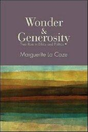 Wonder and Generosity