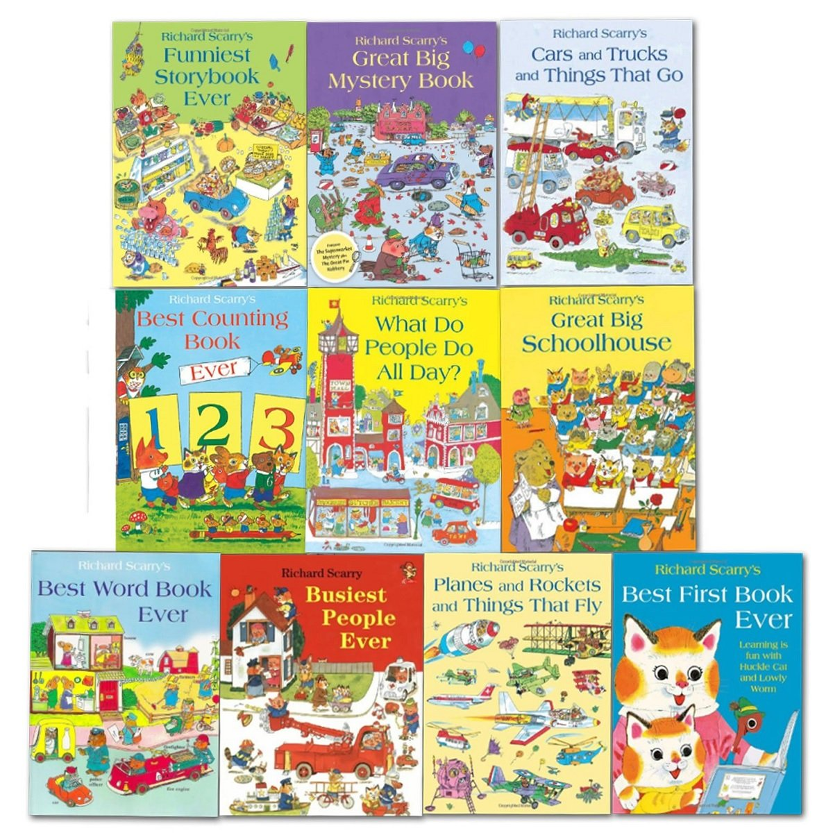 Richard Scarry Collection- 10 Books (RRP £69.90)