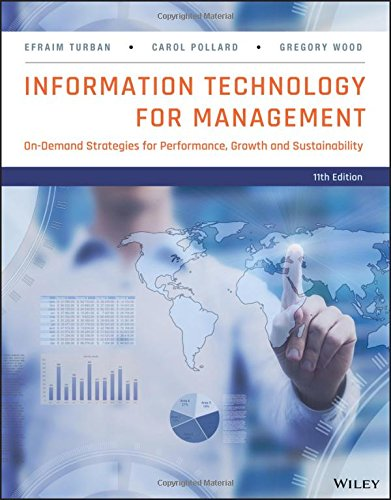 solutions for infromation technology for management efraim turban Find efraim turban solutions at cheggcom now efraim turban: information technology for efraim turban: information technology for management adapted from.