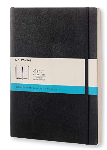 Moleskine Classic Colored Notebook, Extra Large, Dotted, Underwater Blue, Soft Cover (7.5 X 10)