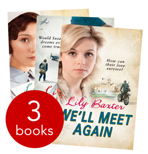 LILY BAXTER SPITFIRE GIRLS, WE'LL MEET AGAIN & POPPY'S WAR 3 book collection set