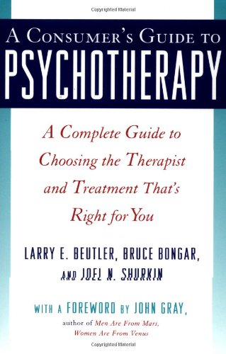 A Consumer's Guide to Psychotherapy