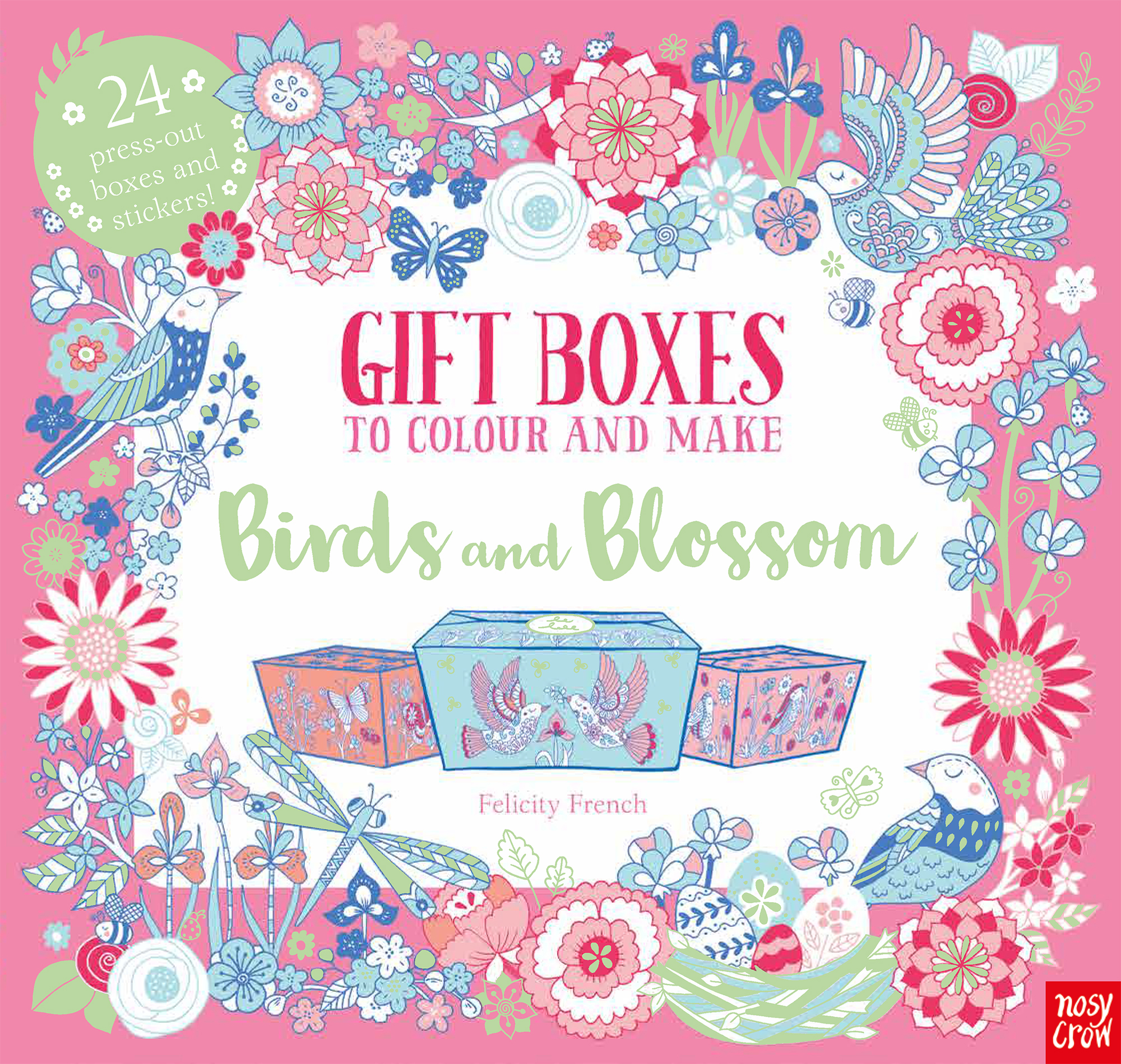 The Colouring Book of Beautiful Boxes: Birds and Blossom