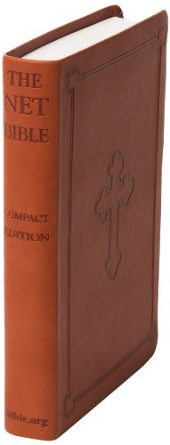 NET Bible / Compact Edition / New English Translation / Brown Leather with Cross