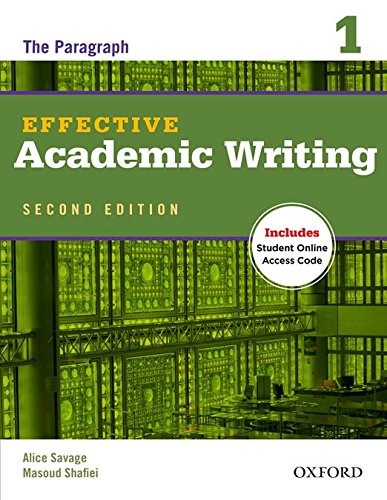 Effective Academic Writing: 1: Student Book