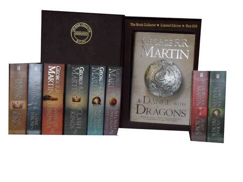 George R. R. Martin a Song of Ice and Fire: Feast for Crows, a Storm of Swords: Steel and Snow: Part 1 of, a Clash of Kings, a Game of Thrones, a Clash of King, a Game of Thrones, a Storm of Swords 1: Steel and Snow, a Strom of Swords 2: Blood and Gold &