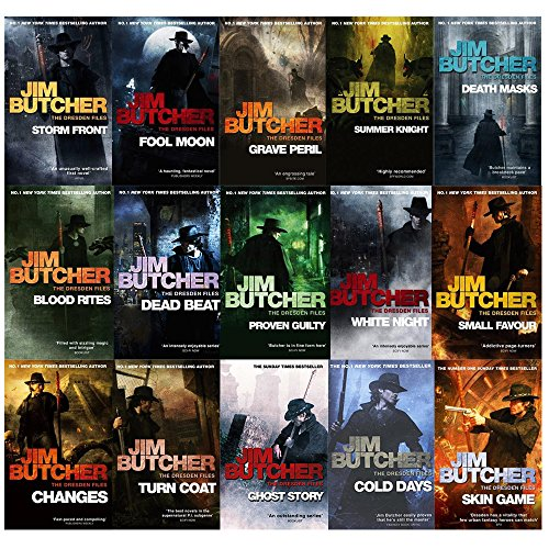 The Dresden Files Series Jim Butcher Collection 15 Books ((Storm Front,Fool Moon,Grave Peril,Summer Knight,Death Masks,Blood Rites,Dead Beat,Proven Guilty,White Night,Small Favour,Turn Coat,Changes,Ghost Story,Cold Days,Skin Game)